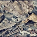 an assemblage of fragments collected from the john kent russell house salvage