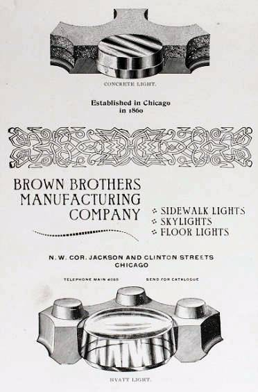 Brown Brothers City Sidewalk Vault Light Panel Fragments Lenses And