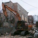 demolition of heavily modified 1885 chicago brick worker's cottage well underway