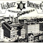 stones and signs at the valentin blatz brewing company office building