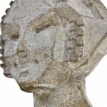 "remarkable midway gardens alfonso iannelli-designed concrete ""sprite"" head cast directly from an original"
