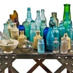 several bottles discovered at the site of a recently demolished huron street house
