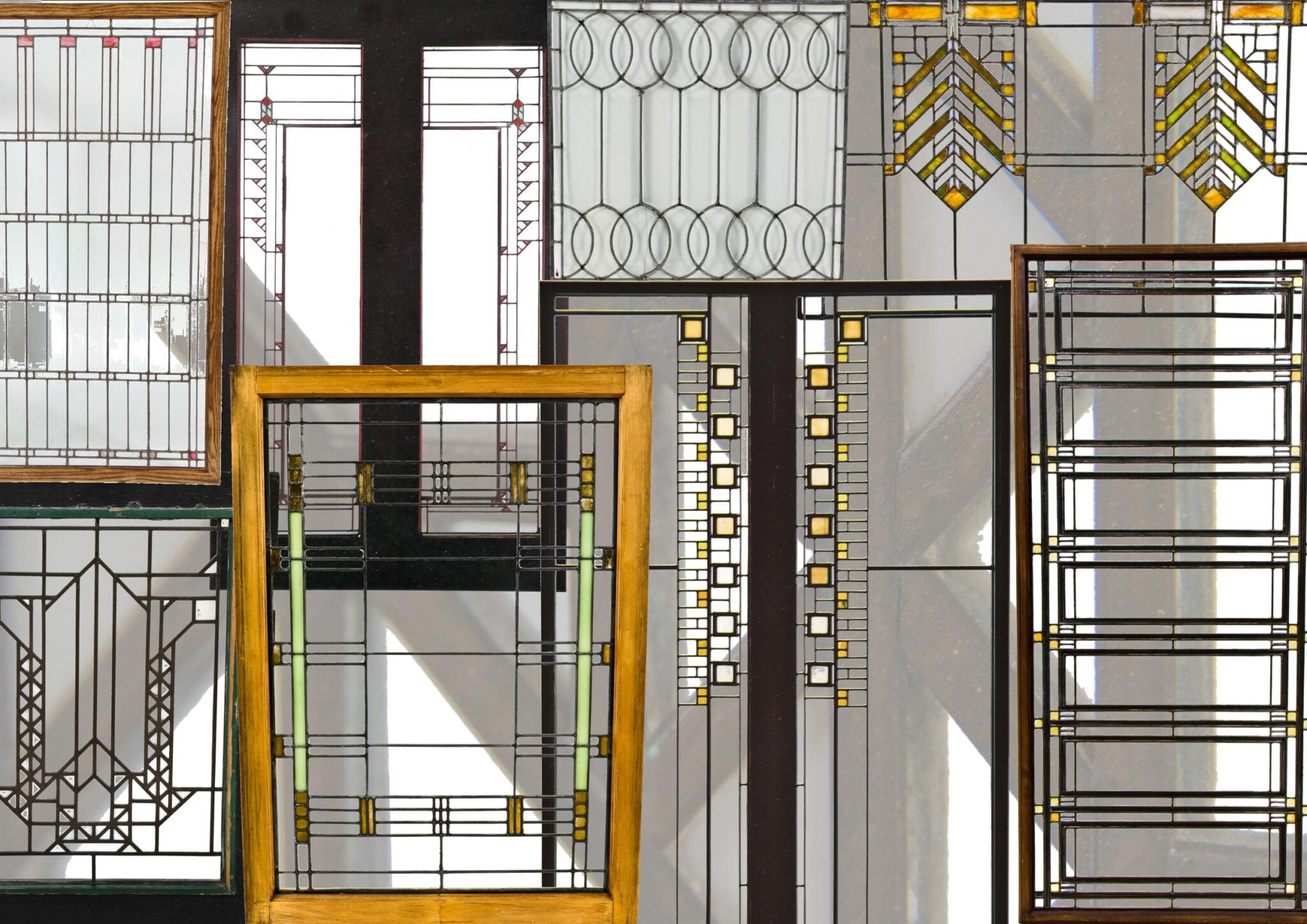the frank lloyd wright windows of the bldg 51 architectural