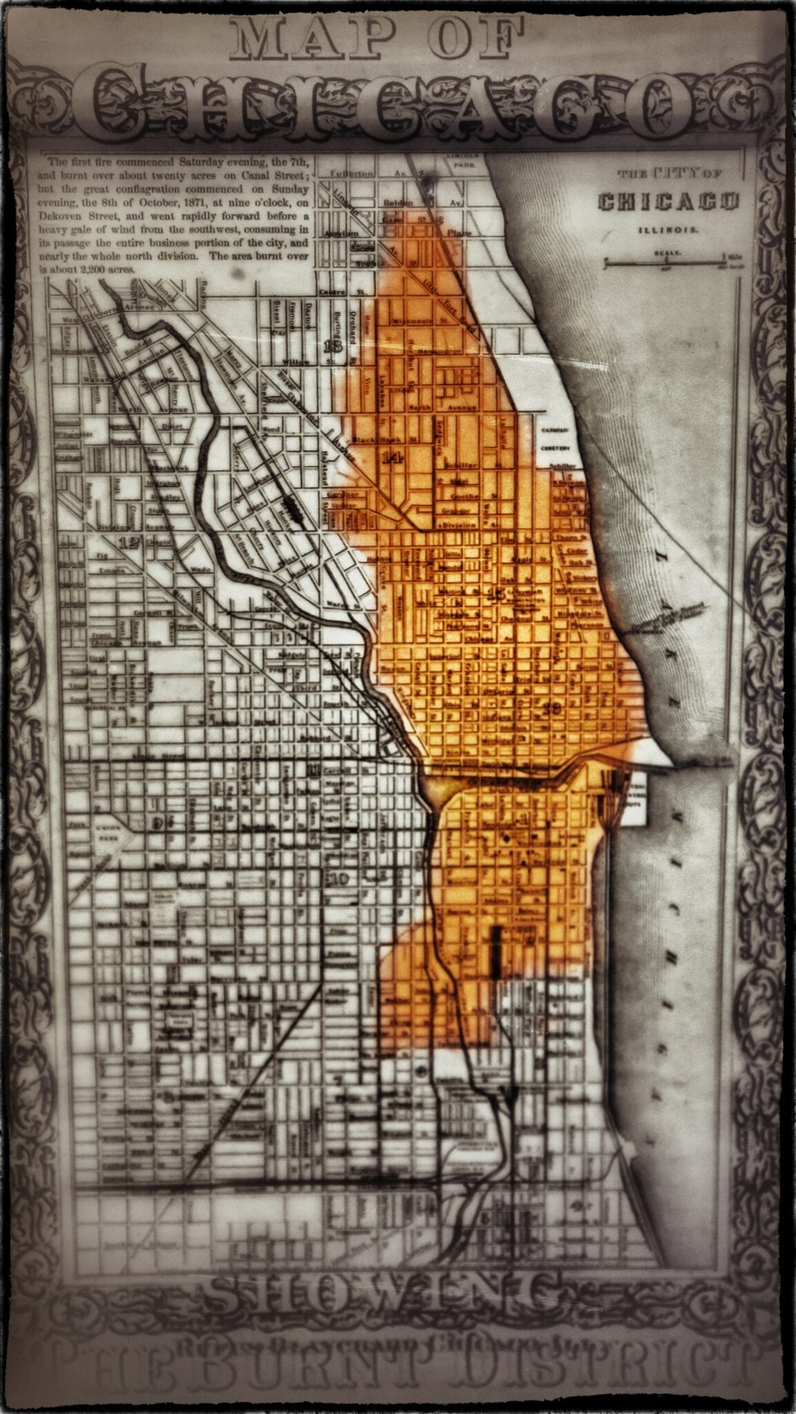Interactive Smithsonian Map Shows What City Looked Like Before The - Chicago fire map