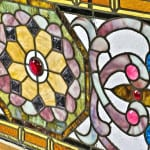"""simmons metal furniture, """"barley twist"""" fretwork, industrial carts, pre-fire doors and stained glass windows"""