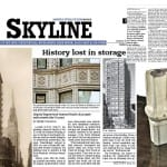 "urban remains' involvement with reliance building salvage mentioned by local chicago newspaper ""skyline"""