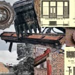 """salvaging 19th century cast iron facade """"front"""" ornament from a former chicago saloon"""