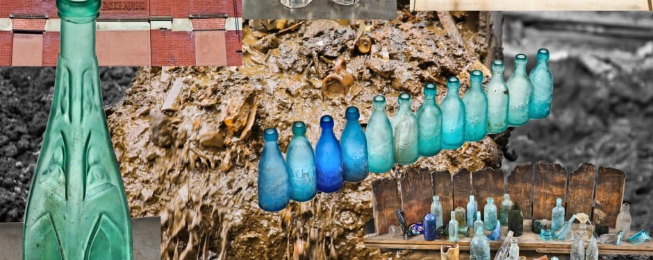 thousands of artifacts unearthed behind an 1860's-era building once housing a saloon