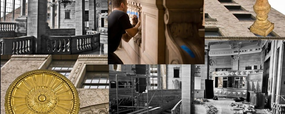 systematic deconstruction of 850 lakeshore drive athletic club's grand interior lobby