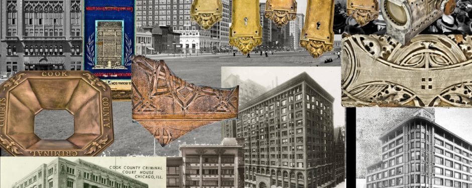 seven chicago artifacts and the buildings from which they were rescued from