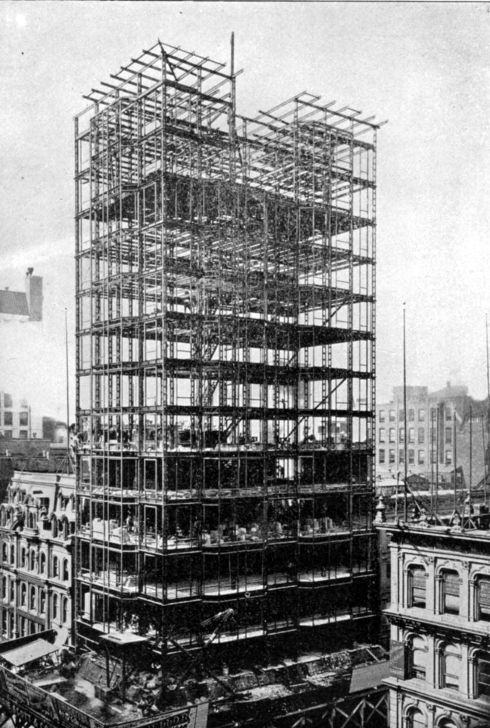 A Detailed View Of The Manhattan Building S Exterior