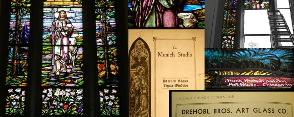 """urban remains methodically extracts park view church's """"munich"""" style tryptych windows executed by drehobl brothers"""