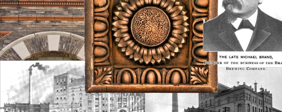 terra cotta from louis lehle-designed brand brewery administration building (1899) generously donated to bldg. 51 museum