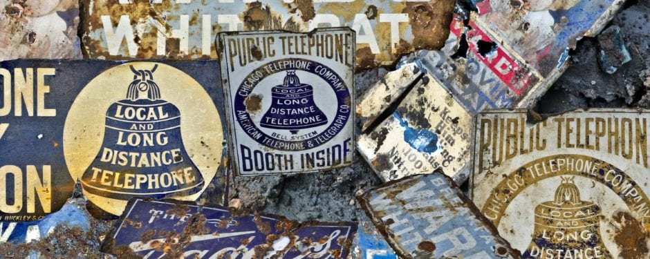porcelain enameled advertising signs unearthed at chicago excavation sites