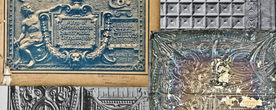 "fabrication of early 20th century ""sullivanesque"" tin ceiling tiles finally demystified"