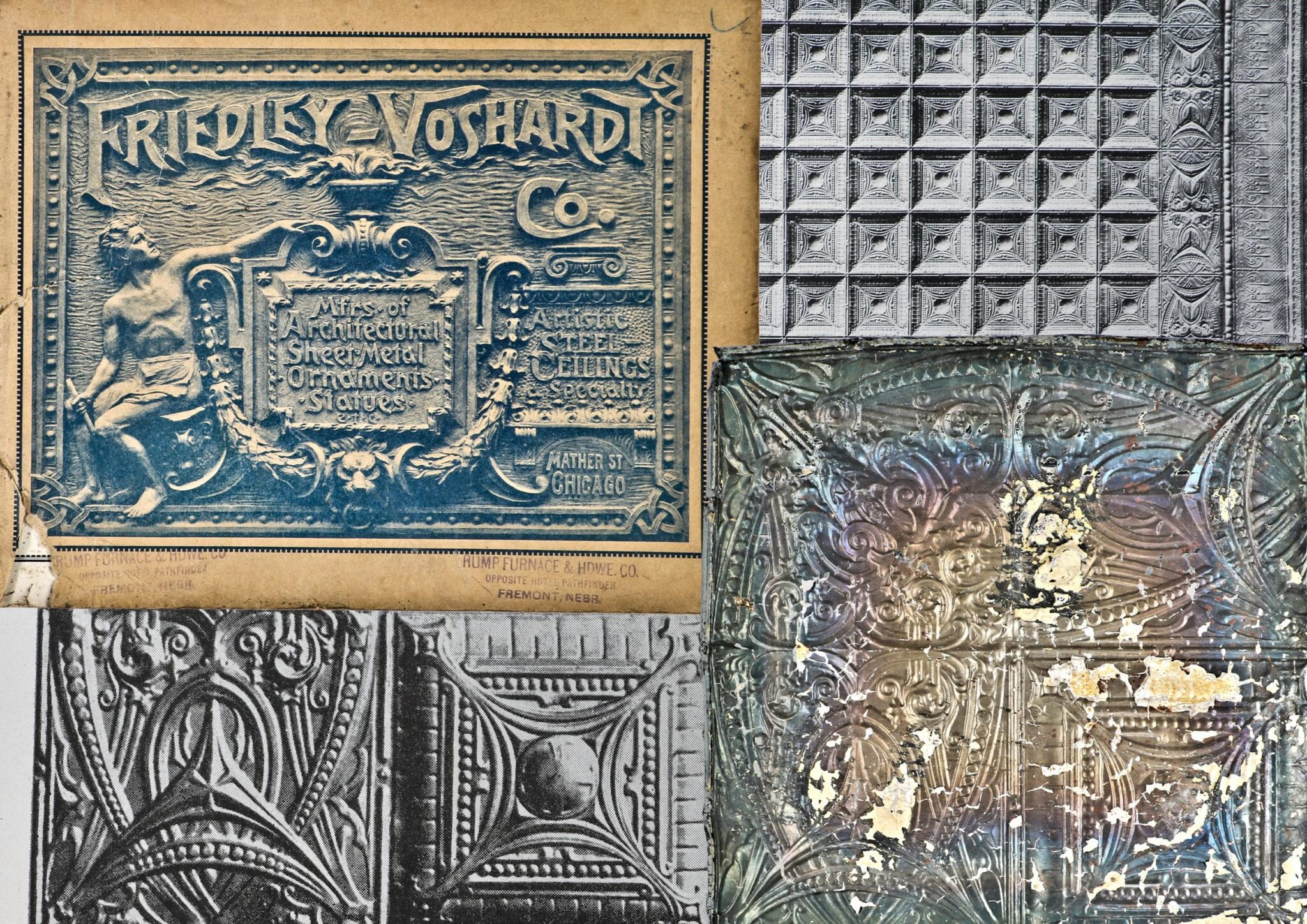 Fabrication Of Early 20th Century Sullivanesque Tin Ceiling Tiles