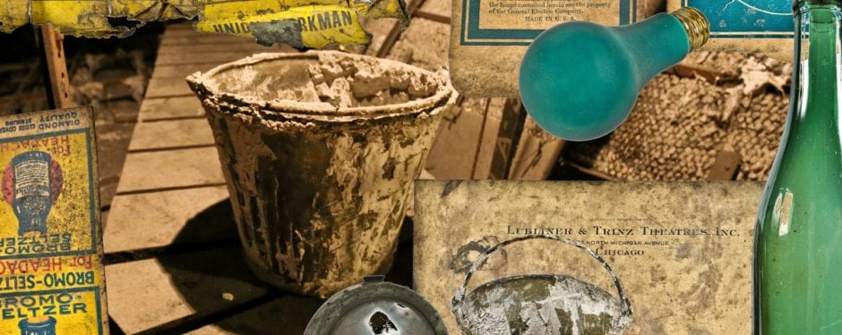 more forgotten objects left behind by congress theater's union tradesmen identified and documented