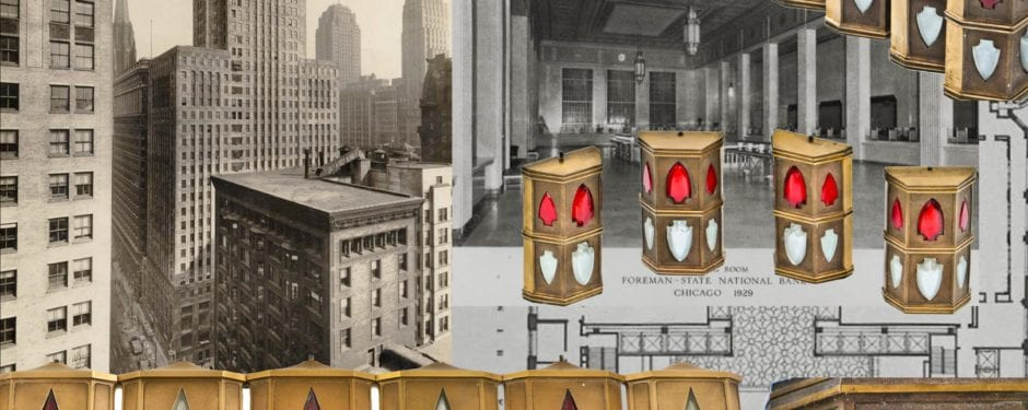 art deco style cast bronze elevator signal lanterns salvaged from the foreman-state national bank