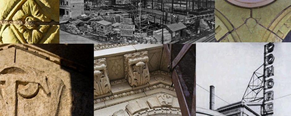 photographic study of congress theater's ornamental terra cotta facade