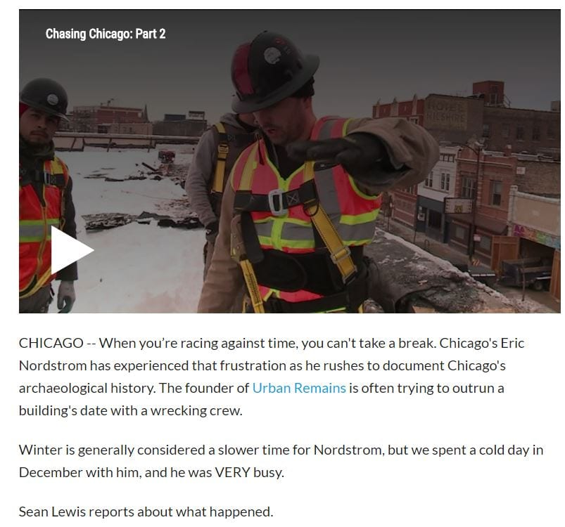 Urban archeologist rescues Chicago history from the wrecking ball
