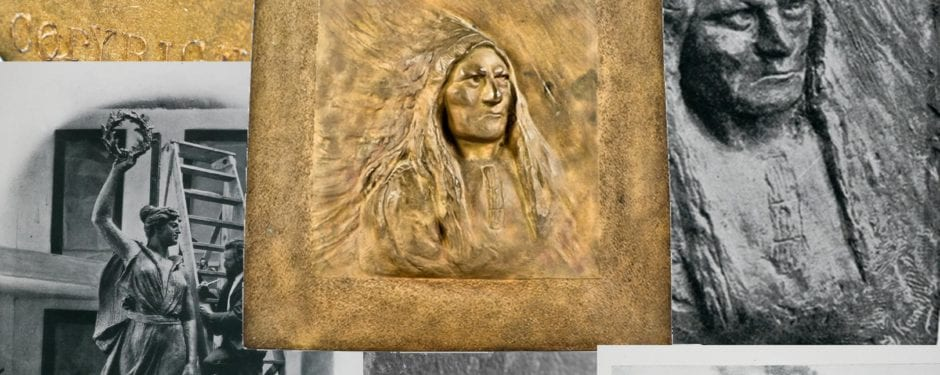 """the """"american west in bronze"""" - a richly detailed edward kemeys-designed plaque executed by winslow brothers"""