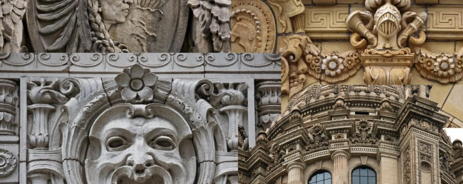 ten images of chicago through its exterior architectural ornament