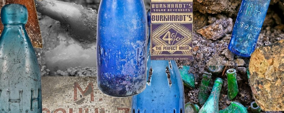 19th century building parts and bottles unearthed during excavation near the m. schultz piano factory (1889)