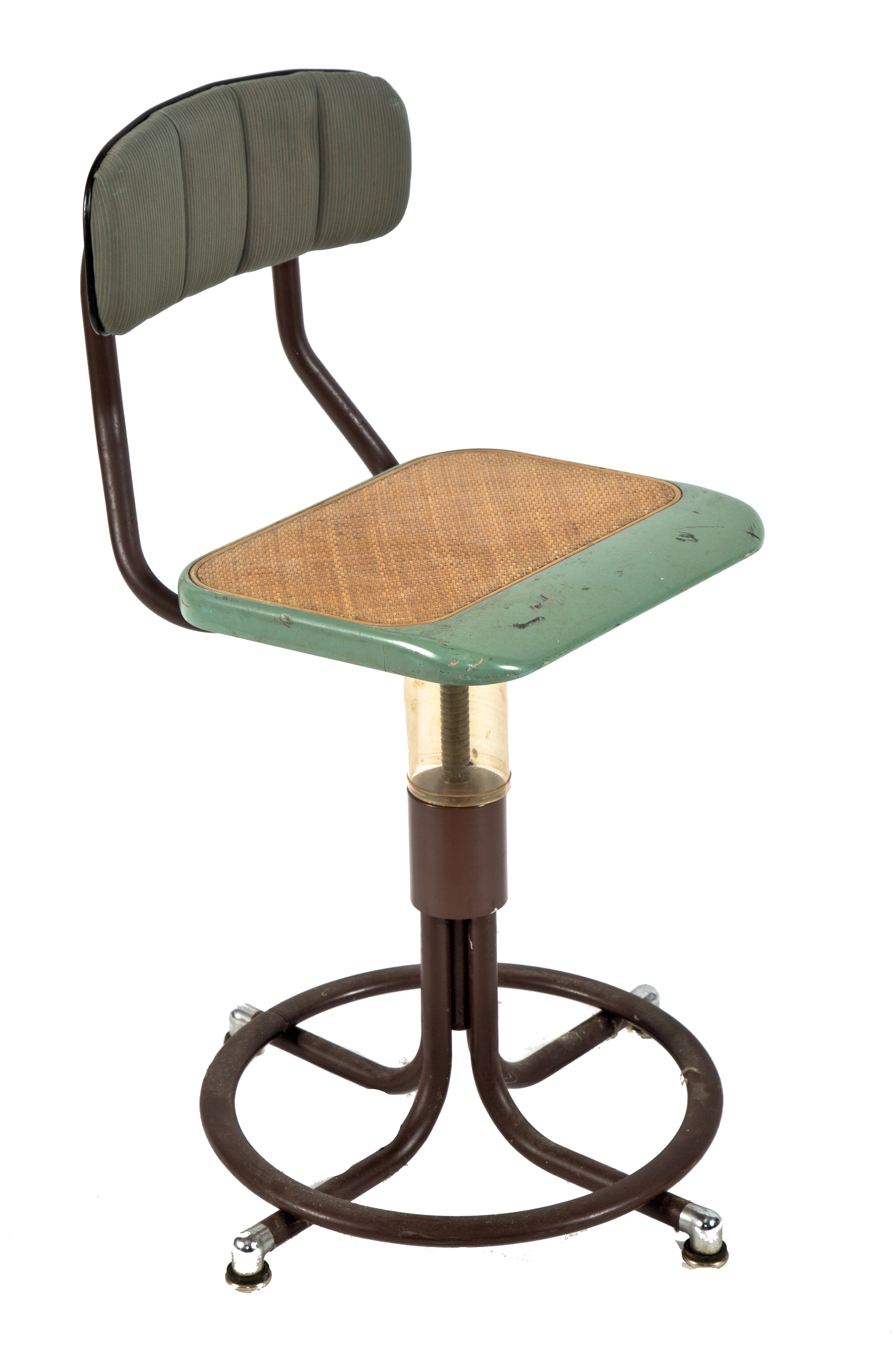 Superb One Of Two Nearly Identical American Depression Era Telephone Company Switchboard Chairs Or Stools With Adjustable Height Seat And Curvaceous Inzonedesignstudio Interior Chair Design Inzonedesignstudiocom