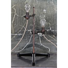 Repurposed Vintage Industrial Scientific Laboratory Retort Stand Table Or Desk Lamp With Double