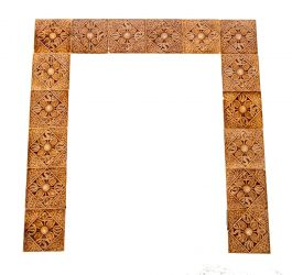 Vintage Classical Acanthus Leaf Pattern Old Architectural Salvage Decorative Tile Fancy Italianate Subway Tile Ceramic Tile