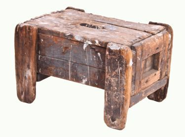 Outstanding Heavy Duty Reinforced Vintage Industrial Primitive Pine Wood Bench Or Step Stool Ibusinesslaw Wood Chair Design Ideas Ibusinesslaworg