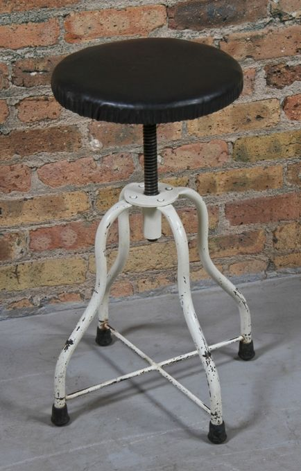 Awesome All Original C 1930S Vintage Medical Adjustable Height Operating Or Examination Room Stationary Doctor Stool Onthecornerstone Fun Painted Chair Ideas Images Onthecornerstoneorg