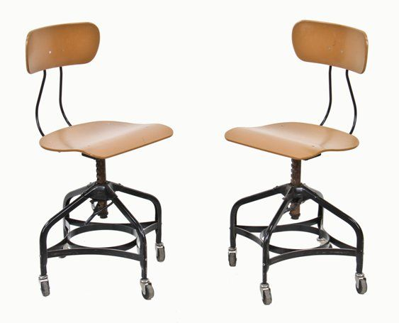 Pleasant Two Matching C 1950S Vintage Industrial Adjustable Height Toledo Factory Office Stools With Original Swivel Casters Unemploymentrelief Wooden Chair Designs For Living Room Unemploymentrelieforg