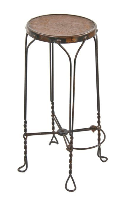 Admirable All Original Late 19Th Century Drugstore Soda Fountain Twisted Wire Four Legged Stool With Original Antique Copper Finish Lamtechconsult Wood Chair Design Ideas Lamtechconsultcom
