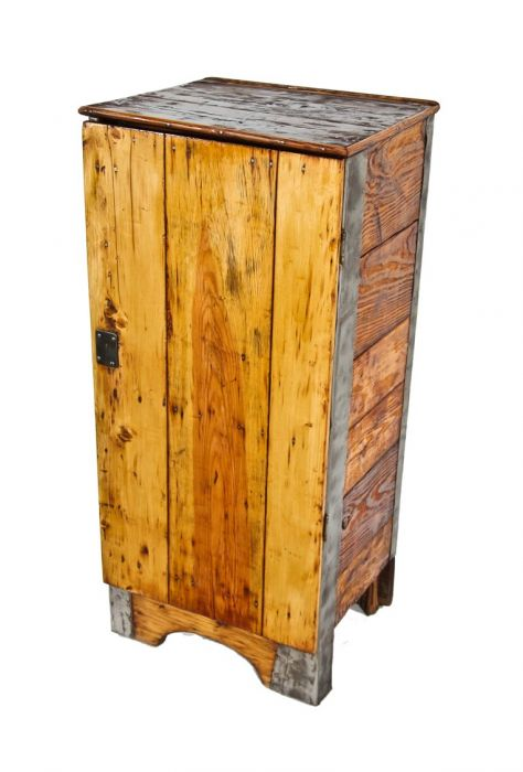 Small Parts Storage Pine Wood Cabinet