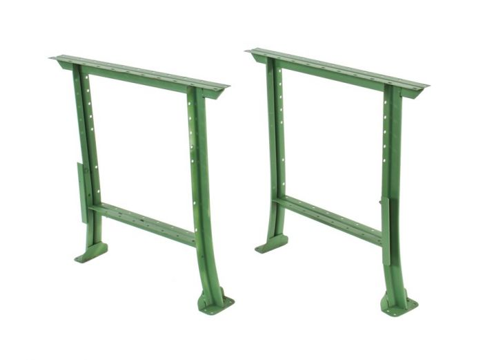 C 1940 S American Vintage Factory Green Enameled Cold Rolled Steel Workbench Or Table Legs With Flared Feet