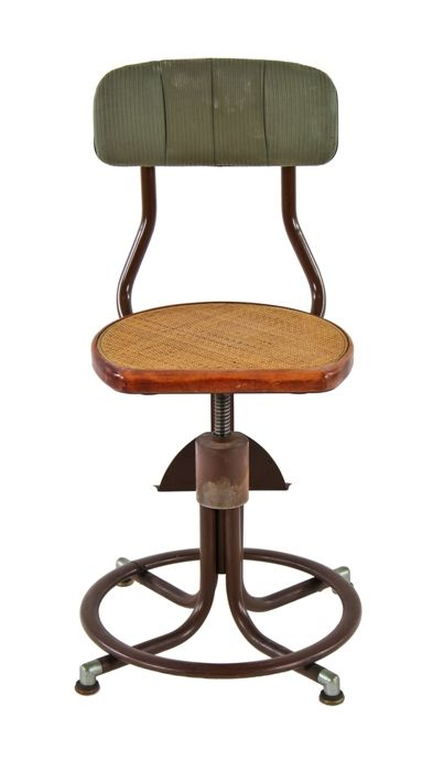 Remarkable Fully Functional Adjustable Height Vintage American Stationary Telephone Switchboard Operator Stool Or Chair With Original Woven Rattan Seat Inzonedesignstudio Interior Chair Design Inzonedesignstudiocom