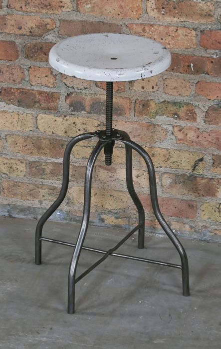 Brilliant Original Antique American Medical Cook County Hospital Adjustable Height Operating Room Stationary Stool Onthecornerstone Fun Painted Chair Ideas Images Onthecornerstoneorg