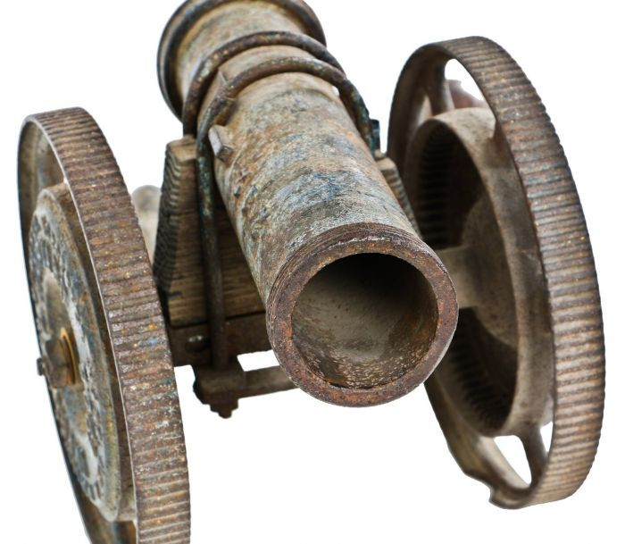 unusual and early 20th century one-of-a-kind antique american folk art  civil war howitzer