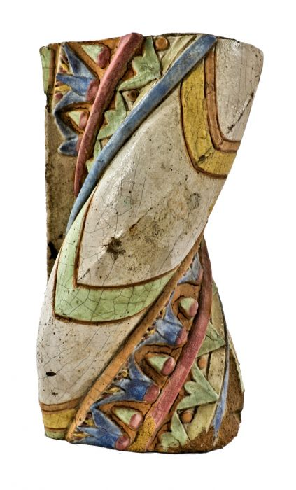 Phenomenal Exceptionally Rare And All Original Brightly Colored C 1920S Egyptian Revival Reebie Storage Building Exterior Twisted Shaped Glazed Terra Cotta Short Links Chair Design For Home Short Linksinfo