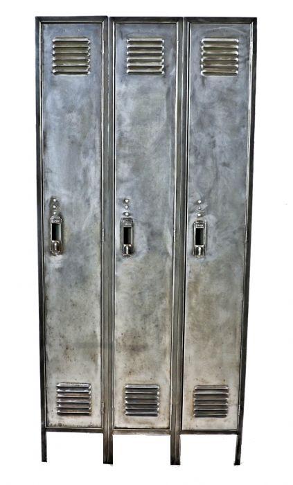 ~Original ~Vintage ~Industrial ~ Metal  ~Single ~Gym Locker ~ School Locker~
