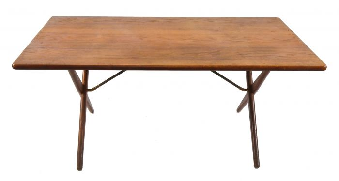 Exceptionally Intact And All Original Mid Century Modern Danish Oak Wood Interior Residential Dining Table Designed By Hans Wegner