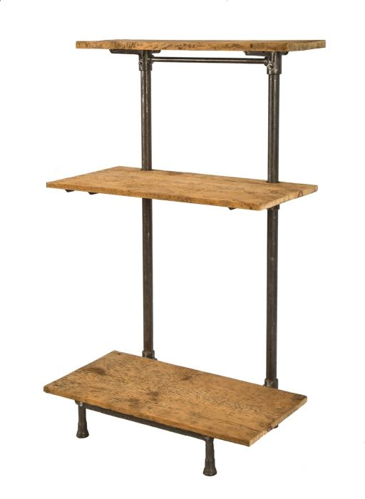 Admirable Repurposed Antique American Industrial Freestanding Early 20Th Century Adjustable Shelving Unit With Detachable Cast Iron Brackets And Newly Added Old Download Free Architecture Designs Remcamadebymaigaardcom
