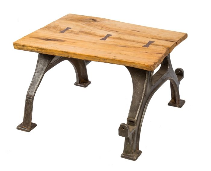 Magnificent Repurposed Antique American Industrial Stationary Heavy Duty Four Legged Brushed Cast Iron Coffee Table With Newly Added Slab Of Wood With Walnut Ocoug Best Dining Table And Chair Ideas Images Ocougorg