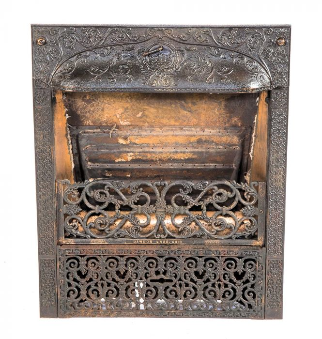 Highly Sought After And Richly Ornamented Cast Iron Dawson Brothers