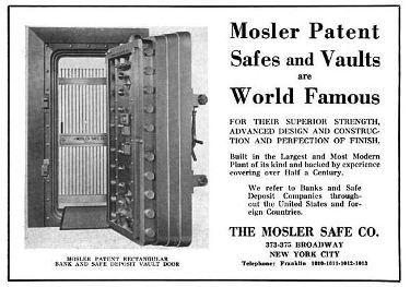 C 1920 S Interior Bank Vault Door Round Bronze Mosler Plaque Or