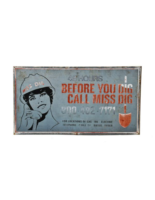 Very Unique Late 1970 S Single Sided Oversized Weathered And Worn Outdoor Miss Dig Die Cut Steel Promotional Service Sign Kalamazoo /ˌkæləməˈzuː/ is a city in the southwest region of the u.s. usd