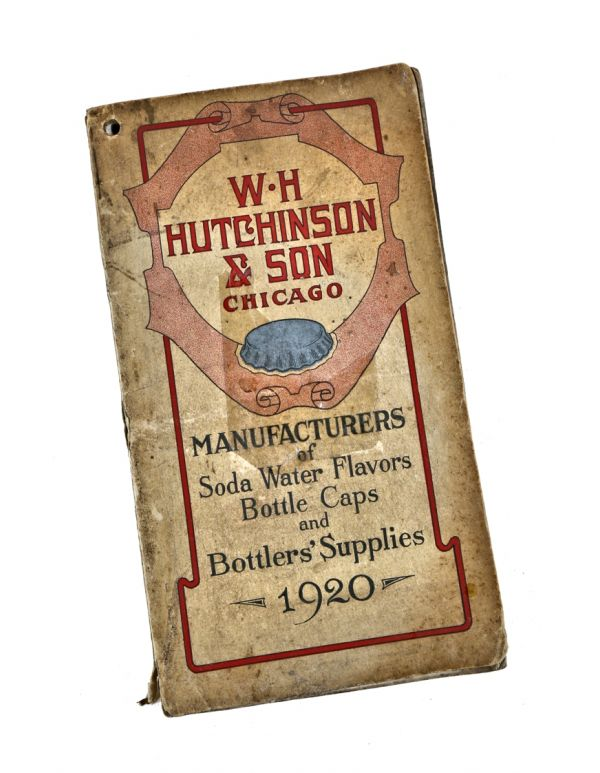 Rare C 1920 Wiliam H Hutchinson Softbound Pocket Book Soda Water Supply Catalog And