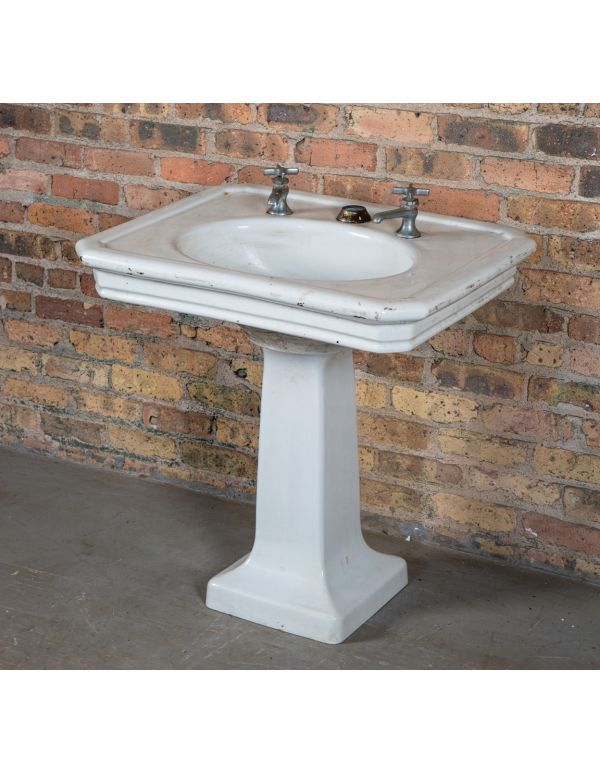 Architectural & Garden Pair-of-antique-white-enamel White Sink Brackets Without Return Other Architectural Antiques