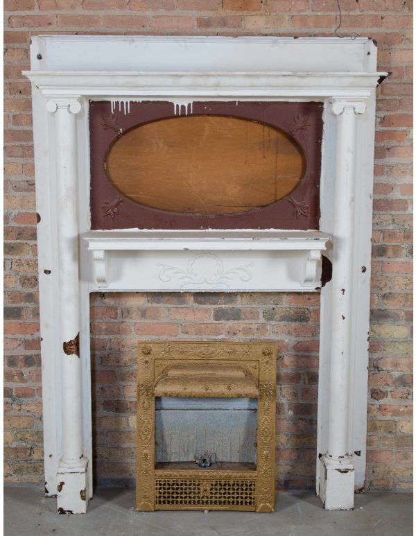 Amazing Antique Fireplace Mantels Inserts Architectural Products Interior Design Ideas Gentotryabchikinfo